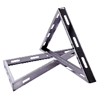 Trigonal Bracket for Base Wall Support Stainless Steel ID: 6""