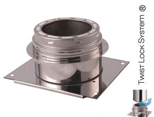 """Base Wall Support Stainless Steel ID: 6″ ; OD: 8.36"""""""